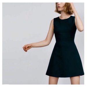 Zara Basic Black A Line Dress
